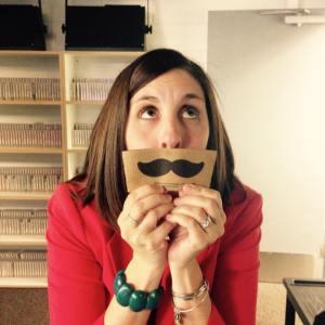 dani with mustache